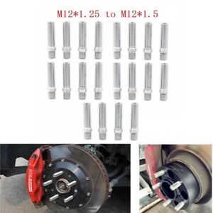 20PC M12x1.25 to M12x1.5 Extended Wheel Lug Bolts Stud Screw Converision Adapter