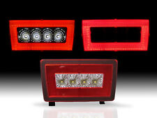 RED Rear LED Bar Cube Fog Light Brake Backup Reverse For 11-16 Subaru WRX STi
