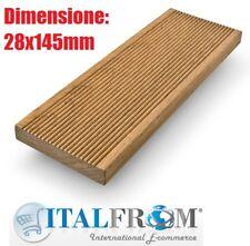 Listone Pavimento in Legno Decking da Esterno Impregnato mm 28x145x3000 Italfrom