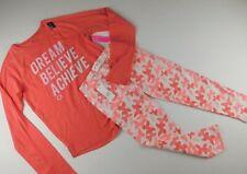NWT GAP Girl's 2 Pc Outfit T-Shirt Leggings Crop Leggings Coral L(10-11) New