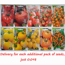 Heirloom Red, Orange, Yellow, Pink, Giant, Cherry Plum Tomato seeds, помидоры LV