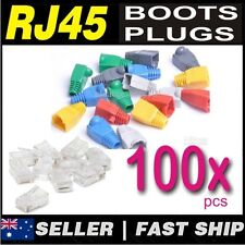 100x pcs RJ45 CAT5 CAT6 Network Modular Plug+Boot Caps (50 Set any 8 Colour)