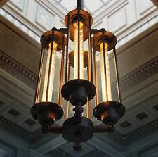 EDISON VINTAGE PENDANT LIGHT CHANDELIER Rustic Iron Cage Hanging Ceiling Lamp