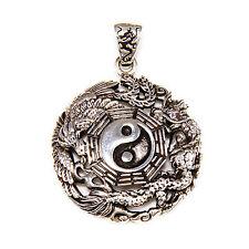 Sterling Silver Men'S Women'S Pendant gb-097 Dragon Phoenix Yin & Yang 925