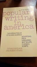 Popular Writing in America Mcquade & Atwan literature english fiction university