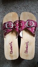 Chinese styled Red blossom Steve Madden high-heel Slip-on sandals NEW