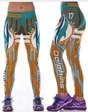 Miami Dolphins Leggings S/M #17 Tannehill football Athletic Yoga Stretchy