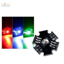 5 x Highpower RGB LED, rot grün blau, Power LED FULLcolor 3W, auf Star Platine