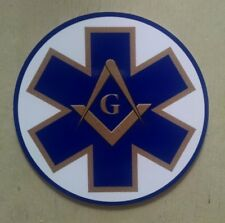 "Masonic Paramedic EMS Star Of Life Decal (4"")"