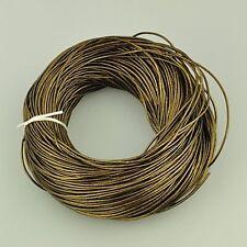 1,5 mm 5 M Cable De Cuero Perlados fabricación de joyas Oscuro Caqui