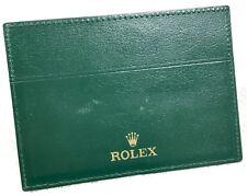 Rolex Wallet Translation Certificate Document Holder Leather Explorer Daytona