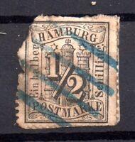 Germany Hamburg 1859 1/2sch used Spacefiller WS16889