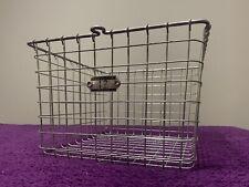Vintage Wire Metal Industrial Gym Locker Basket Super Clean