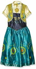 SPECIAL OFFER DISNEY FROZEN FEVER ANNA DELUXE SNOW QUEEN FANCY DRESS COSTUME