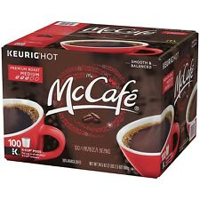 Coffee K-cup Preminum Medium Roast 100 Cups McCafe Rich Flavor Kosher Delicious