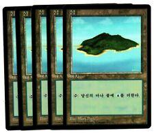 Island A x 5 MTG 4th FBB Mark Poole KOREAN NM/NM- Black Border
