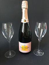 Veuve Clicquot Rose Champagner Flasche 0,75l 12% Vol + 2 Veuve Gläser