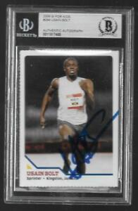 BGS 2008 SI for Kids USAIN BOLT Rookie Card Auto/Autograph Sprinter Olympic #294
