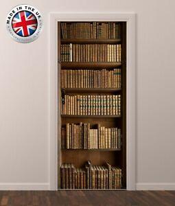 DS17 BOOK SHELF DOOR FRIDGE CUBOARD SKIN COVER STICKER WRAP SCENERY VIEW MURAL