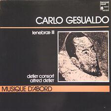 CARLO GESUALDO Tenebrae III Alfred Deller FR Press Harmonia Mundi HM 240 1972 LP