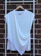 Lovely WITCHERY Cream Draped Sleeveless Top Blouse Size XS EUC