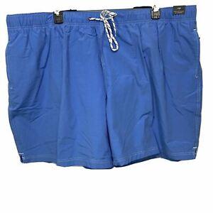 Roundtree & Yorke Men's Swimwear Swim Shorts Trunks 4XB 4XLB Lined Pool Blue