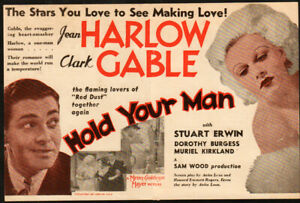 Hold Your Man  Original Movie Herald from the 1933 Movie