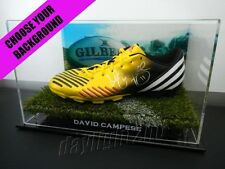 ✺Signed✺ DAVID CAMPESE Football Boot PROOF COA Wallabies Australia 2018 Jersey