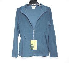 Exofficio - NWT - XS - Light-Weigh Blue Full-Zip Micro-Fleece Hoodie Sweatshirt