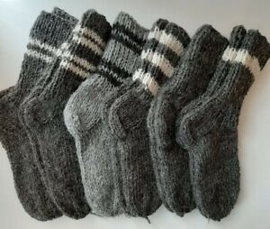 Herren Schafwollsocken Socken Schurwolle Gr.43-46 Naturwolle 100%,handgestrickt