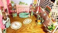 Petite Princess Ideal Rare 1960s Dollhouse Bathroom Tub Sink Toilet Hamper 1:12