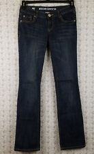 Womens Juniors Mossimo Supply Denim Jeans Dark Blue Size 5R Fit 6 Boot Cut