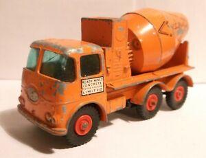 1960s Lesney Matchbox King Size K13 K-13 ERF Readymix Ready Mix Concrete truck a