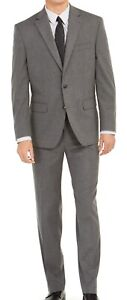 Club Room Mens Suit Set Gray Size 42 Two-Button Classic Fit 2 Piece $395 #066