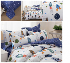 Galaxy Space Bedding Set for Kids Duvet Cover Full Queen Size Room Decor Gift
