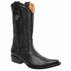 Men's Western Boots (Dear Leather)/Botas Vaqueras de Hombre (Piel de Venado)