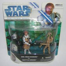 Star Wars Clone Wars CW 2 Pack Obi Wan & Battle Droid Exclusive