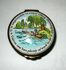 Bilston & Battersea Halcyon Days London Enamel Trinket Box
