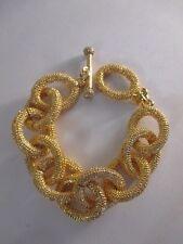 Banana Republic Glamour  Crystal Toggle Bracelet GOLD NIP $49.50