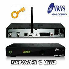 RECEPTOR IRIS 9700 9800 SOPORTE 12 MESES PREMIUN 2 CODIGOS ESPAÑA RENUEVALO DECO