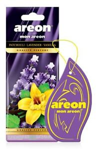 5x Mon Areon Patchouli Lavender Vanilla Car Air Fresheners Quality Perfume Scent
