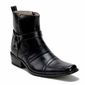 Jazame Men's 39093 Leather Lined Tall Western Style Cowboy Dress Boots