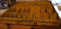 "Vintage Metal Kirkhill Rubber Products Store Display 17""×21""×6"""