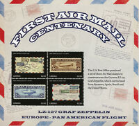 Liberia Aviation Stamps 2018 MNH 1st Airmail Graf Zeppelin LZ-127 4v M/S