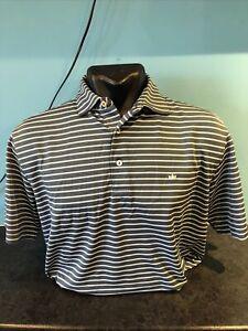 Peter Millar Medium Striped Golf Shirt USED