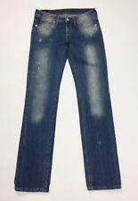 Uniform jeans donna giovanna w27 tg 40 41 donna slim vita bassa denim blu T3457