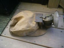 Canvas MIners Cap With Justrite Carbide Light Lamp Southern Illinois