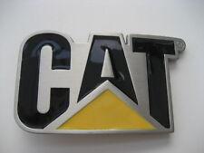 CAT HEAVY EQUIPMENT  SCULPTURED   BELT  BUCKLE   (BK387)