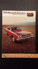 """1970 PLYMOUTH - """"Belvedere"""" - Dealer Color Sales Catalog Brochure - E -(CDN)"""
