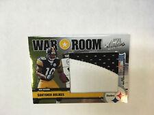 2006 Absolute Santonio Holmes War Room jersey patch card #ed 23/25 Steelers jsy
